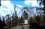 The view from Yosemite Lodge, circa 1985.