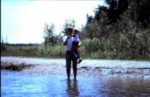 Once upon a time, the author (and one of his sons) waded through the mighty Mississippi near its source.
