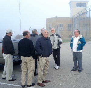 Mike (2nd from left) and Kairos teammates, outside Menard as Kairos #4 begins...