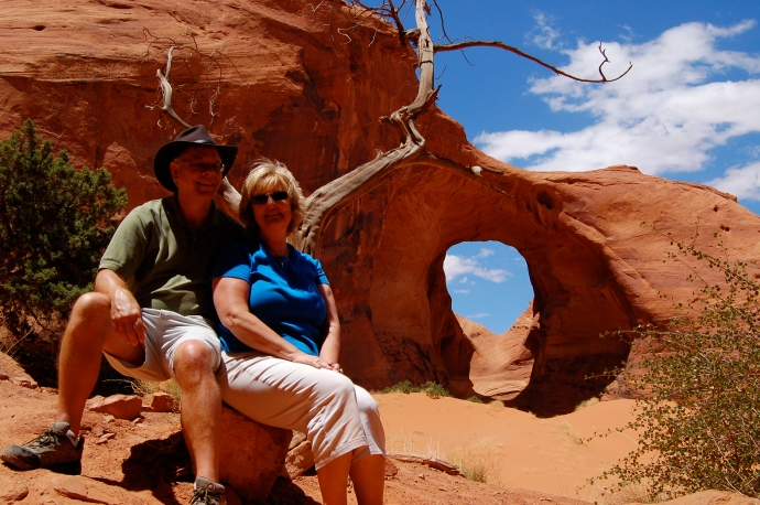 Into the desert, together -- my Paradise Partner and me...