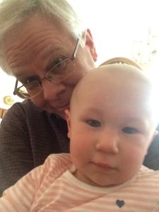 Yes, that's Gramps, cuddling with a favorite spiritual guru...