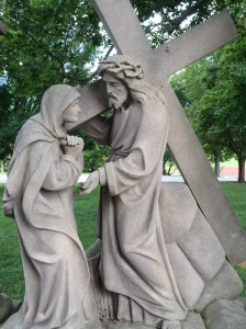 Strong enough to bear the cross alone...still Christ always invites us to participate.