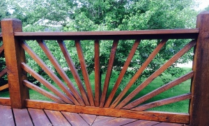 The devil's in the details when it comes to staining this deck rail...