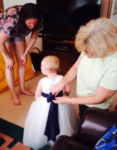 Mom and Grandma get Hannah ready for the big day...