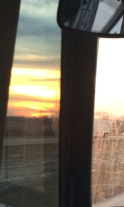 With a gorgeous sunset, the Almighty One seems to smile upon the pilgrims as they make their way home...
