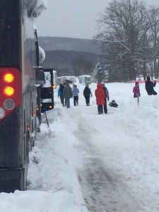 ...the bus passengers got out to help.