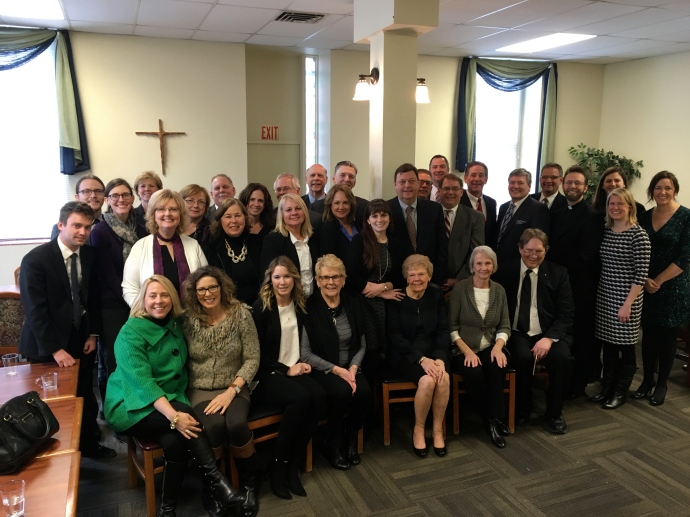 A family of saints-in-the-making, at the post-funeral luncheon.