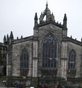 St. Giles Cathedral, seen from the apartment window.