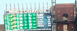 11 World Series banners...and holding...